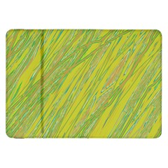 Green and yellow Van Gogh pattern Samsung Galaxy Tab 8.9  P7300 Flip Case