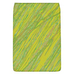 Green and yellow Van Gogh pattern Flap Covers (L)