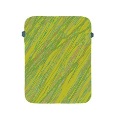 Green and yellow Van Gogh pattern Apple iPad 2/3/4 Protective Soft Cases