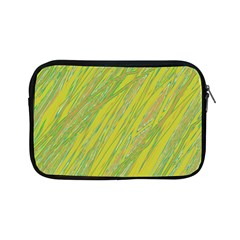 Green and yellow Van Gogh pattern Apple iPad Mini Zipper Cases