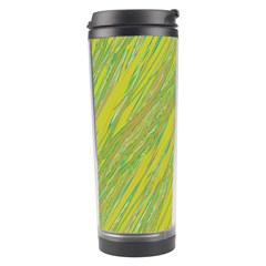 Green and yellow Van Gogh pattern Travel Tumbler