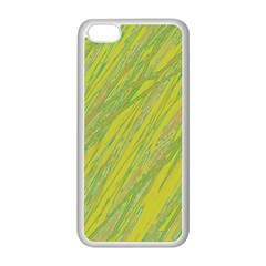 Green and yellow Van Gogh pattern Apple iPhone 5C Seamless Case (White)