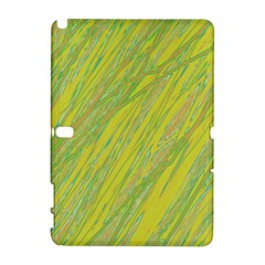 Green and yellow Van Gogh pattern Samsung Galaxy Note 10.1 (P600) Hardshell Case