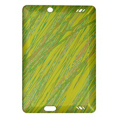 Green and yellow Van Gogh pattern Amazon Kindle Fire HD (2013) Hardshell Case