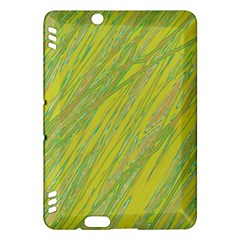 Green and yellow Van Gogh pattern Kindle Fire HDX Hardshell Case