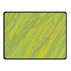 Green and yellow Van Gogh pattern Double Sided Fleece Blanket (Small)