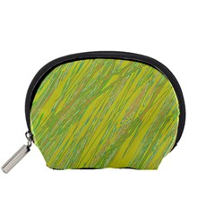 Green and yellow Van Gogh pattern Accessory Pouches (Small)