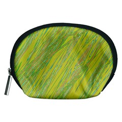 Green and yellow Van Gogh pattern Accessory Pouches (Medium)