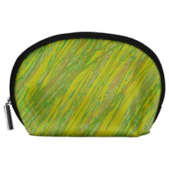 Green and yellow Van Gogh pattern Accessory Pouches (Large)