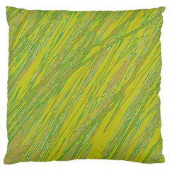 Green and yellow Van Gogh pattern Standard Flano Cushion Case (One Side)