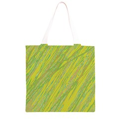 Green and yellow Van Gogh pattern Grocery Light Tote Bag