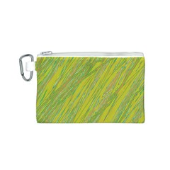 Green and yellow Van Gogh pattern Canvas Cosmetic Bag (S)