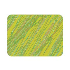 Green and yellow Van Gogh pattern Double Sided Flano Blanket (Mini)
