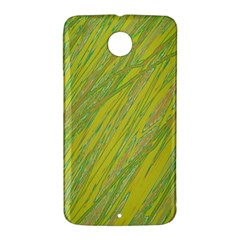 Green and yellow Van Gogh pattern Nexus 6 Case (White)
