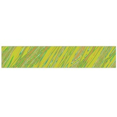 Green and yellow Van Gogh pattern Flano Scarf (Large)