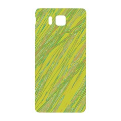 Green and yellow Van Gogh pattern Samsung Galaxy Alpha Hardshell Back Case
