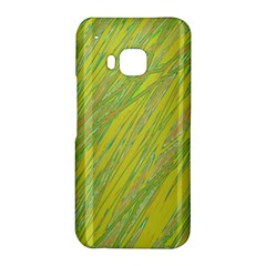 Green and yellow Van Gogh pattern HTC One M9 Hardshell Case