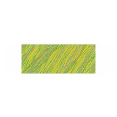 Green and yellow Van Gogh pattern Satin Scarf (Oblong)