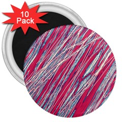 Purple decorative pattern 3  Magnets (10 pack)