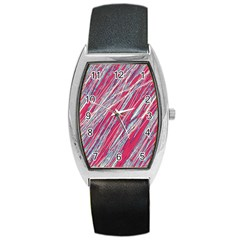 Purple decorative pattern Barrel Style Metal Watch