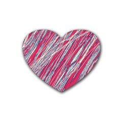 Purple decorative pattern Rubber Coaster (Heart)