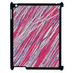 Purple decorative pattern Apple iPad 2 Case (Black)