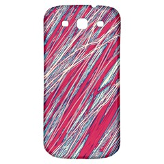 Purple Decorative Pattern Samsung Galaxy S3 S Iii Classic Hardshell Back Case