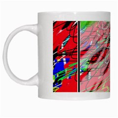 Colorful Pattern White Mugs