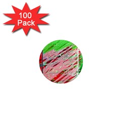 Colorful pattern 1  Mini Magnets (100 pack)