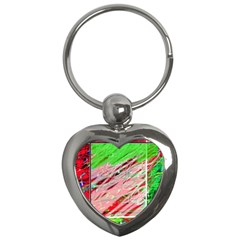 Colorful pattern Key Chains (Heart)