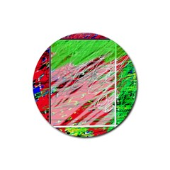 Colorful pattern Rubber Coaster (Round)