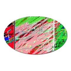 Colorful pattern Oval Magnet