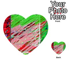 Colorful pattern Multi-purpose Cards (Heart)