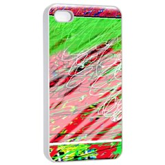 Colorful pattern Apple iPhone 4/4s Seamless Case (White)
