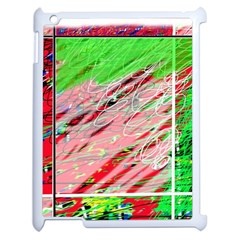 Colorful pattern Apple iPad 2 Case (White)