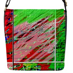 Colorful pattern Flap Messenger Bag (S)