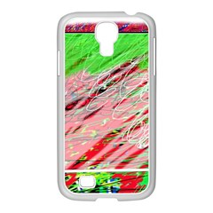 Colorful pattern Samsung GALAXY S4 I9500/ I9505 Case (White)