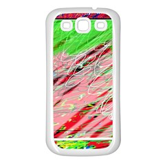 Colorful pattern Samsung Galaxy S3 Back Case (White)