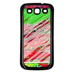 Colorful pattern Samsung Galaxy S3 Back Case (Black)