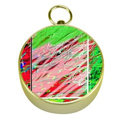 Colorful pattern Gold Compasses