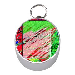 Colorful pattern Mini Silver Compasses