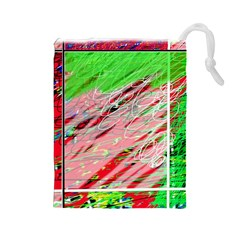 Colorful pattern Drawstring Pouches (Large)