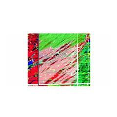 Colorful pattern Satin Wrap