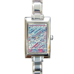 Colorful pattern Rectangle Italian Charm Watch
