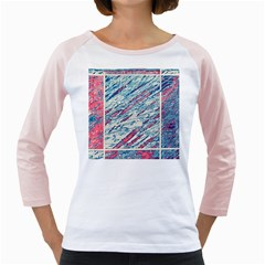 Colorful pattern Girly Raglans