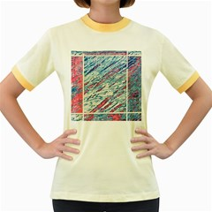 Colorful pattern Women s Fitted Ringer T-Shirts