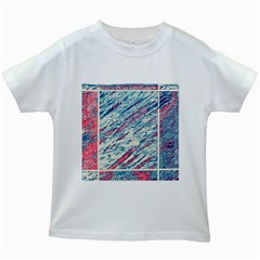 Colorful pattern Kids White T-Shirts