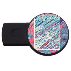 Colorful pattern USB Flash Drive Round (1 GB)