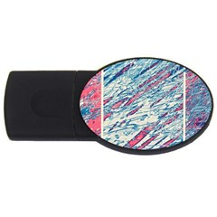Colorful pattern USB Flash Drive Oval (1 GB)