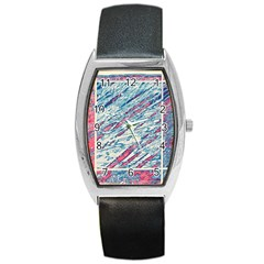 Colorful pattern Barrel Style Metal Watch